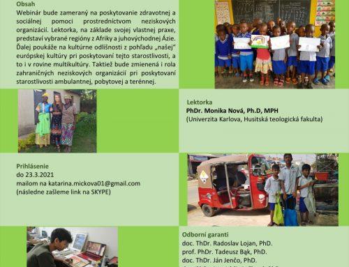 Zdravotná a sociálna pomoc ľuďom v núdzi v rozvojových krajinách – Príklady z praxe z vybraných regiónov z Afriky a juhovýchodnej Ázie   (webinár)